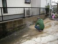 コンクリートの高圧洗浄